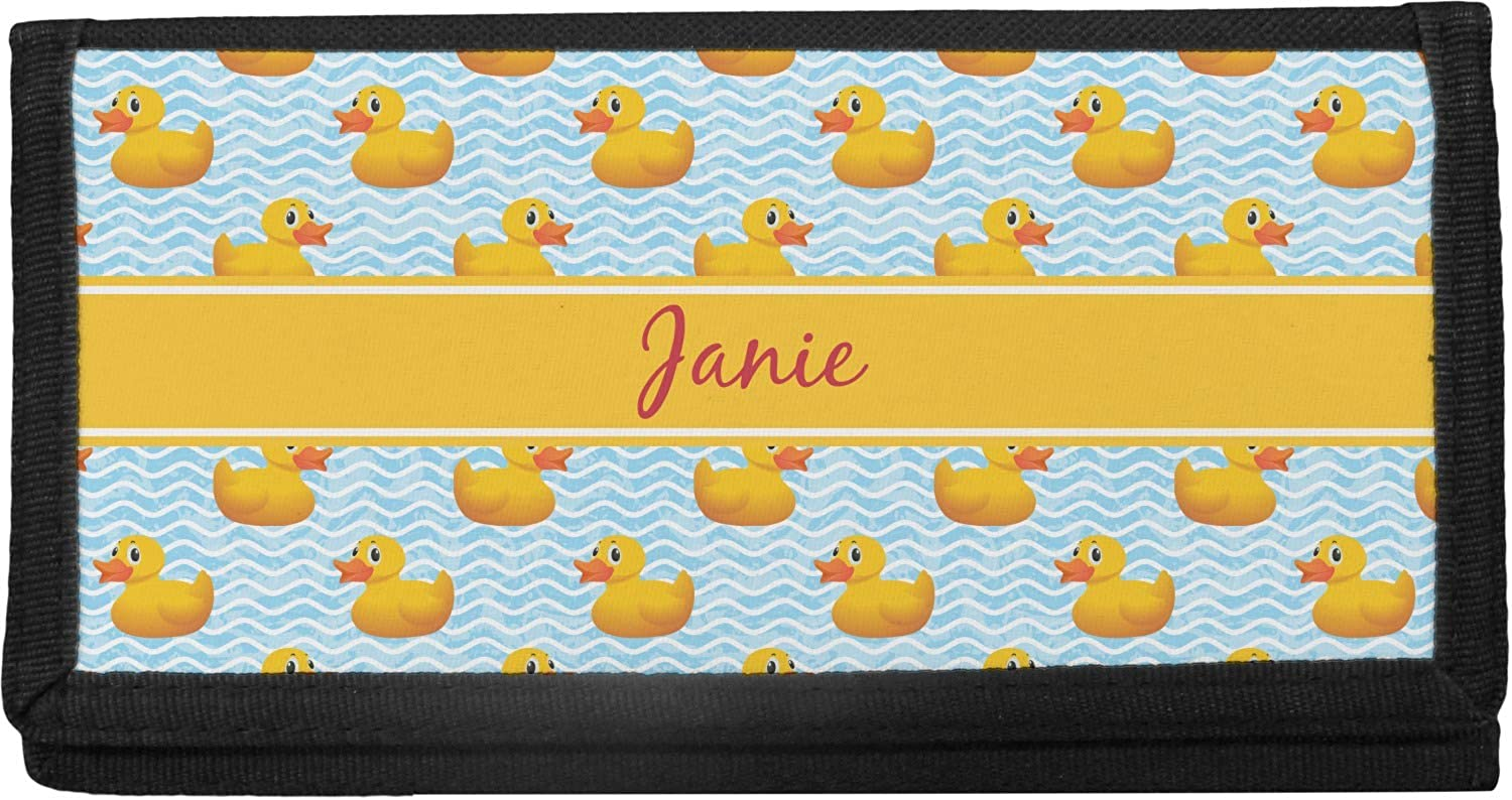 Great interest Rubber Duckie Canvas Checkbook latest Personalized Cover