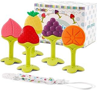 NASHRIO Baby Teething Toys 5 Pack - Silicone BPA Free...