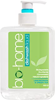 bio-home Dishwashing Liquid, Lemongrass and Green Tea, 500ml