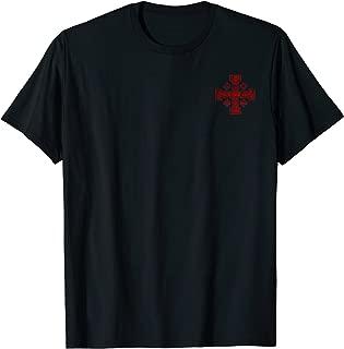 Templar T-Shirt Jerusalem Cross Distressed Medieval