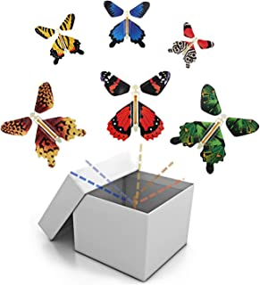 BFY Magic Flying Butterfly Wind Up Toys for Card, Gag Gifts for Kids Great Surprise  Colorful Butterfly in Book Greeting C...
