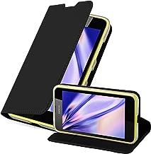 Cadorabo Book Case Works with Nokia Lumia 630/635 Wallet Etui Cover CLASSY BLACK DE-114325