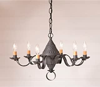 Small Concord Chandelier in Blackened Tin