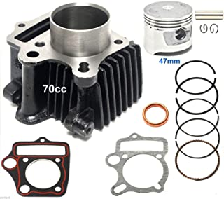 70cc 47mm Piston Cylinder Kit for Chinese ATV Dirt Bike GoKart 13mm pin1P47FMD