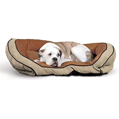 Amazon Com K H Pet Products Bolster Couch Pet Bed Large Mocha Tan 28 X 40 Dog Bed Pet Supplies