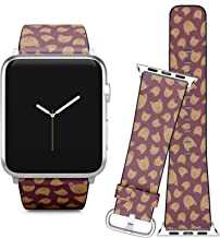 Compatible with Apple Watch iWatch (42/44 mm) // Leather Replacement Bracelet Strap Wristband + Adapters // Bear Teddy