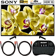 Sony XBR-49X800G 49-inch 4K Ultra HD LED TV (2019 Model) Bundle with Deco Gear 2.4GHz Wireless Backlit Keyboard and 2X Deco Gear 4K Copper 6 FT HDMI Cable