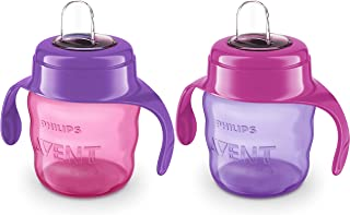 Philips Avent Sippy Cup Spout 200ml, 2-pack, Assorted Colours, SCF551/22