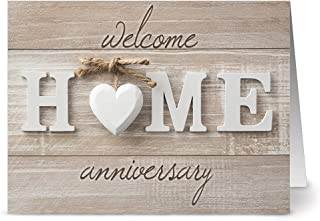 All Occasion Greeting Cards – 36 Pack – Welcome Home Anniversary – 6 Unique Designs – KRAFT ENVELOPES INCLUDED – Blank Greeting Card – Glossy Cover Blank Inside – By Note Card Café