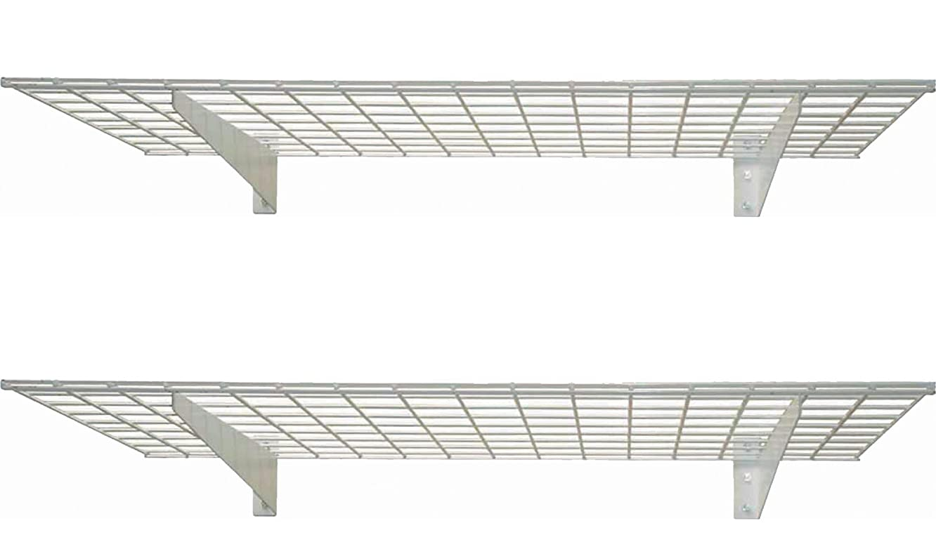 HyLoft 00967 45-Inch by 15-Inch Wall Shelf, Off White, 2-Pack
