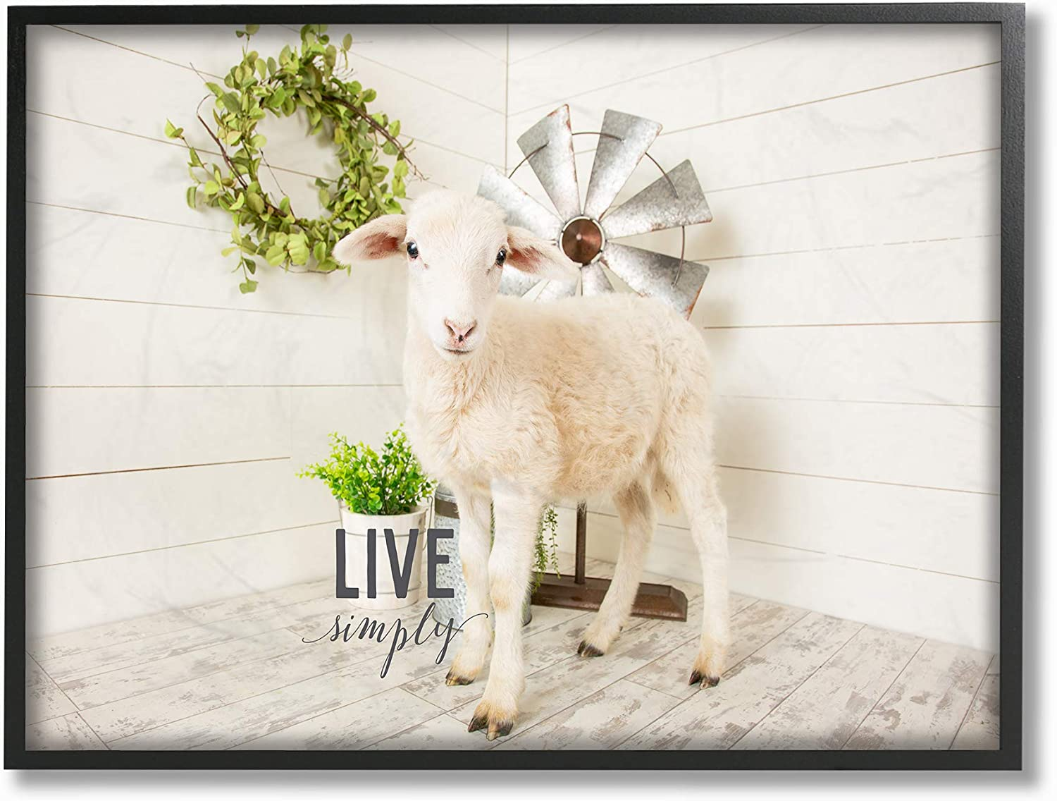 Stupell Industries Live Simply Baby Photogra Greenery with Max 54 ...