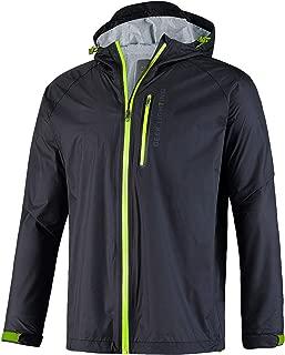 GEEK LIGHTING Men's Rain Jacket Lightweight Hooded Waterproof Windbreaker Cycling Running Raincoat