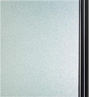 窓 めかくしシート ガラスフィルム 目隠しシート 断熱 紫外線カット 無接着剤 再利用可能 窓用シール DIY(90 x 200 cm)