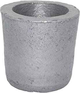 1# Foundry Silicon Carbide Graphite Crucibles Cup Furnace Torch Melting Casting Refining Gold Silver Copper Brass Aluminum for 0.8KG Copper or 0.3KG Aluminum