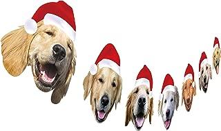 Golden Retriever Christmas Garland, Dog Christmas Party Decoration, Funny Xmas Gift for Dog Lover