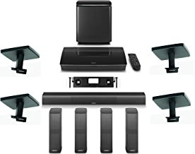 Bose Lifestyle 650 Home Entertainment System with Ceiling Brackets (1 OmniJewel Center Channel Wall Bracket & 4 OmniJewel Ceiling Brackets) - Black
