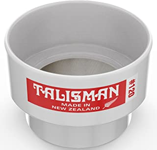 Talisman Test Sieve, 120 Mesh, for Small Batch Slips, Glazes and Laboratory Use, 316 Steel Mesh, Polycarbonate Body