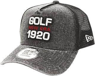 (ニューエラ) NEW ERA ゴルフ メッシュキャップ 9FORTY Aフレーム ダックキャンバス イタリアンウォッシュ NEG1920 マイクロエラ ブラック GOLF FREE (サイズ調整可能)