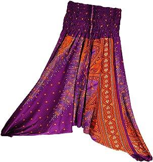 Prettyia Floral Harem Pants Comfortable Wide Leg Baggy Yoga Hippie Trouser for Women Ladies