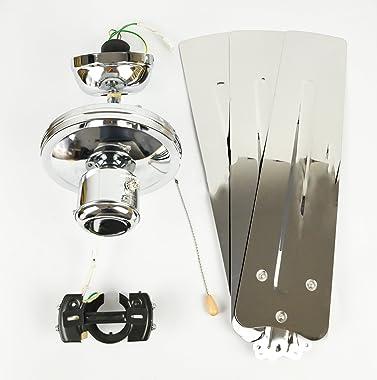Ventilateur de plafond Zephyr de AireRyder avec commande par tirette, Revêtement chromé, 122 cm