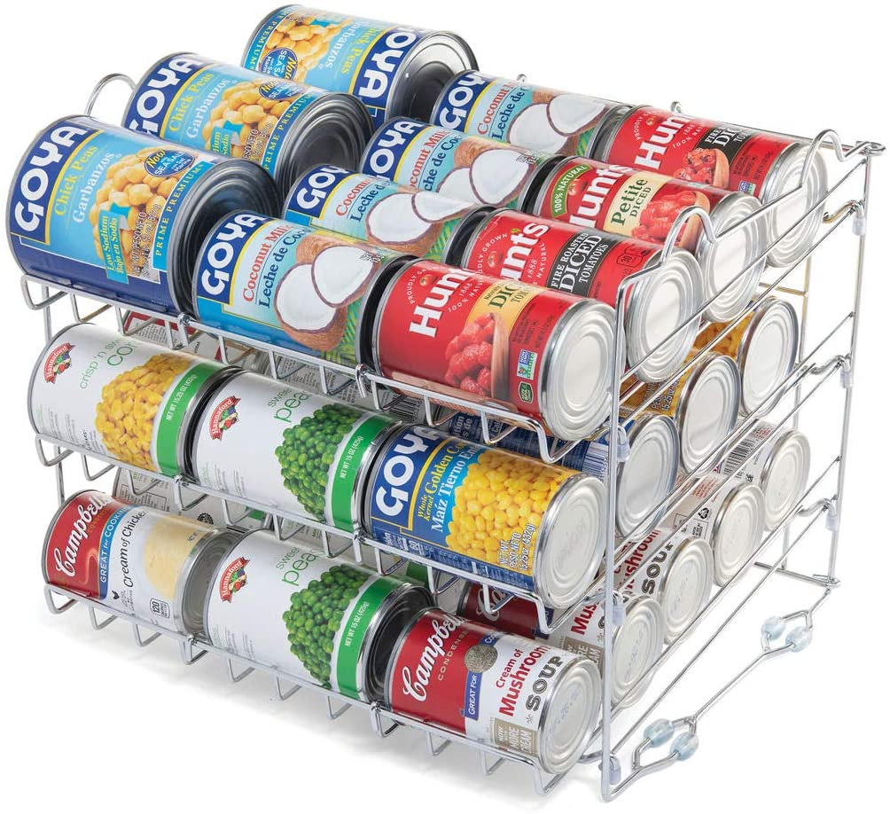 Sagler Chrome Popularity Stackable Can Organizer Rack online shopping Holds to 36 C up