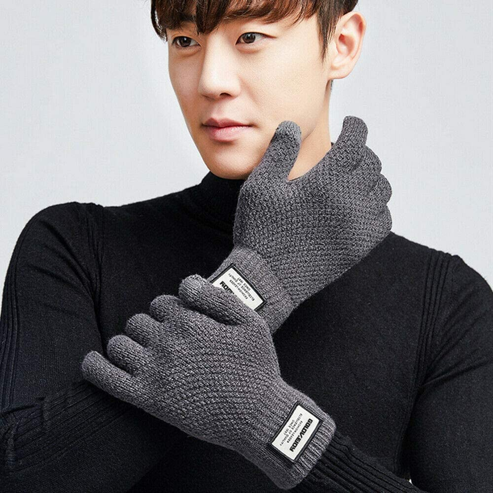 Windproof Warm Winter Gloves Touch Screen Thermal Thick Knit Men & Women