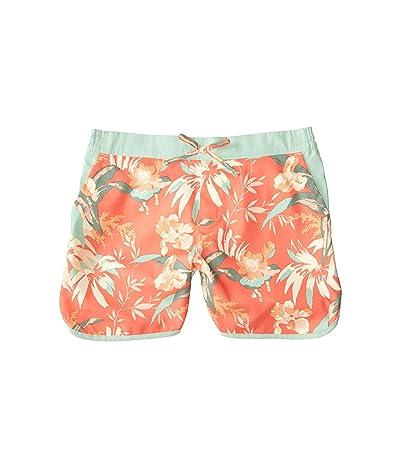 Columbia Kids Sandy Shorestm Boardshorts (Little Kids/Big Kids) (Melonade Magnolia Floral) Girl