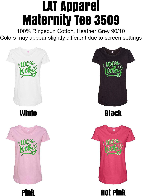 HARD EDGE DESIGN Women's 100% Lucky Horseshoe T-Shirt