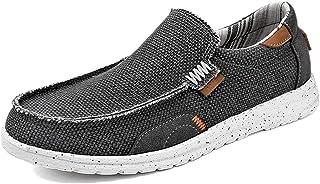 Chaussures en Toile Homme Mocassins Décontractées Bateau Respirant Chaussure de Marche au Loisir Léger Chaussures
