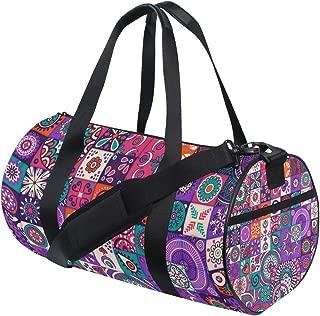 Duffel Bags Marble Tile Medallion Womens Gym Yoga Bag Small Fun Sports Bag for Men