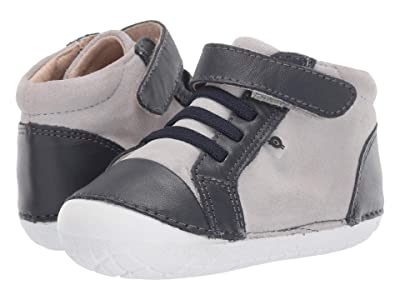Old Soles High Pave (Infant/Toddler) (Grey Suede/Navy/Navy) Boy