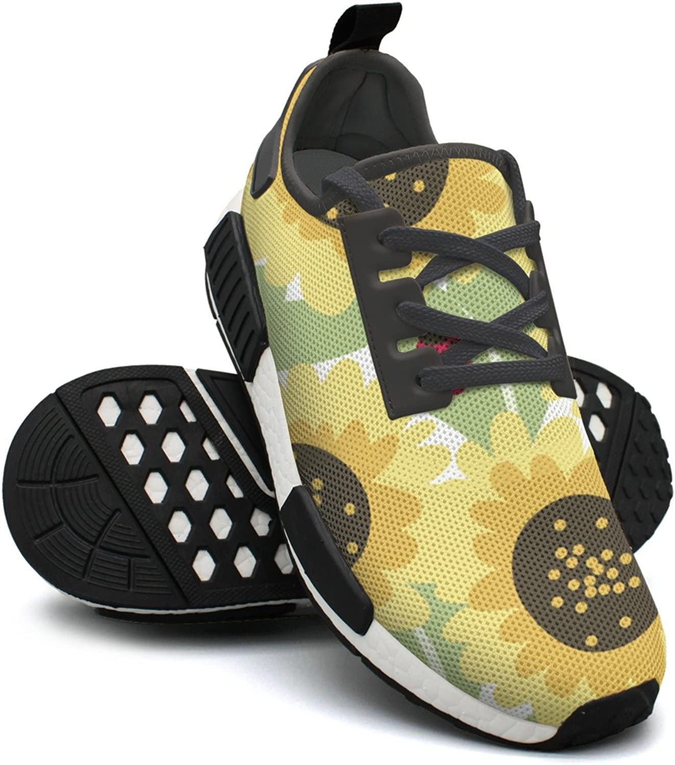 Sunflower and Ladybugs Women's Casual Lightweight Basketball Sneakers Gym Outdoor Running shoes