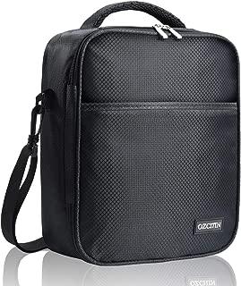 Insulated Lunch Bag for Men Lunch Box for Men Soft Reusable Cooler Bag for Office Work Best Gifts for Men OZCHIN(Black)