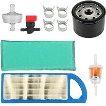 Harbot GY20573 Air Filter with Oil Filter Tune Up Kit for John Deere LA115 LA105 LA110 L100 L105 L107 Lawn Tractor