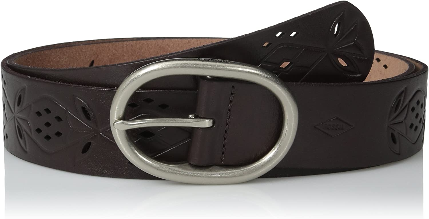 Fossil Women's Max 76% OFF Floral Perforated Max 82% OFF Belt