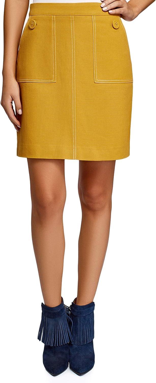 oodji Ultra Women's Patch Pocket A-Line Skirt
