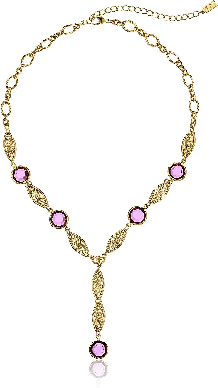 1928 Max 47% OFF Jewelry Gold-Tone Amethyst Purple Crystal depot Swarovski Genuine