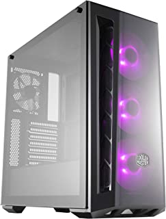 Cooler Master MasterBox MB520 RGB ATX Mid Tower Case Tempered Glass Window 3x RGB LED Fans - Black - MCB-B520-KGNN-RGB