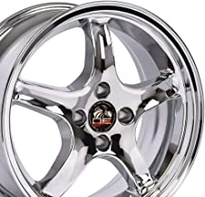 OE Wheels 17 Inch Fits Ford Mustang 79-1993 Cobra R Style FR04A 17x9/17x8 Rims Chrome SET