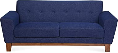 @home by Nilkamal Budapest 3 Seater Sofa (Blue)