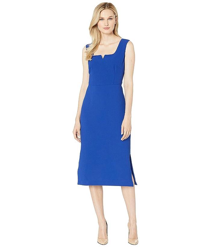 Adrianna Papell Cameron Textured Midi Sheath Dress (Egyptian Blue) Women