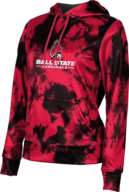 Ball State University Girls' Pullover Hoodie, School Spirit Sweatshirt (Grunge)