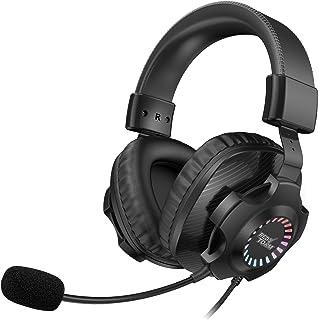 REDSTORM Auriculares gaming , Sonido Envolvente Virtual 7.1, con Microfono para PS4 PC Xbox One, Cascos Gaming con Bass Su...