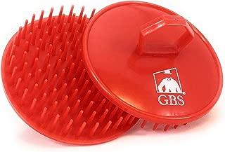 GBS Shower Shampoo Massage Hair Brush No.100-2 PACK Red Brush - Scalp Massager, Detangler & Beard Brush - Head Scrubber Promotes Hair Growth. Multi Use for Women Men Beard and Pet Grooming Brushes