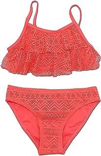 Kantenia Baby Girl Bikini Ruffles Bathing Suit Striped Beach Swimsuit Adjustable Swimwear 2 Pcs Set