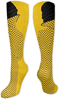 MISS-YAN, Calcetines para hombre y mujer con diseño de piel sintética ensuciada, divertidos y locos