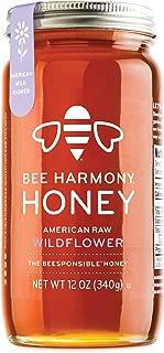Bee Harmony American Raw Wildflower Honey, 12 Ounce
