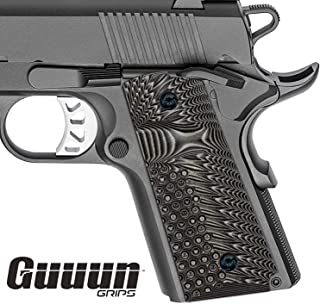 Guuun G10 Grips for 1911 Compact/Officer, OPS Eagle Wing Texture - 6 Color Options