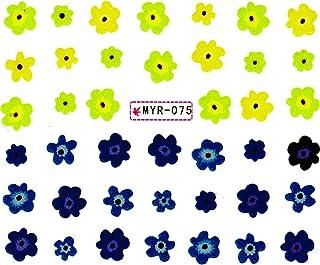 ウォーターネイルシール フラワー 花 選べる6種類 極薄?重ね貼りOK (J-03)