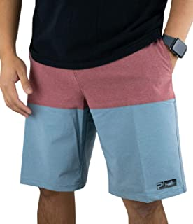 Men's U.S.Angler Deep Sea Blue Hybrid Fishing Shorts | Fish & Stripes Appear When Wet